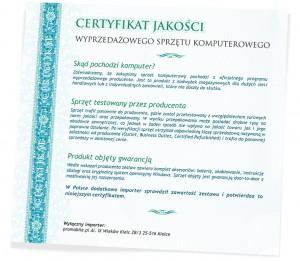 Certyfikat Jakości - Promobile